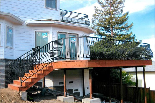 Wrought Iron Porch Railings San Jose