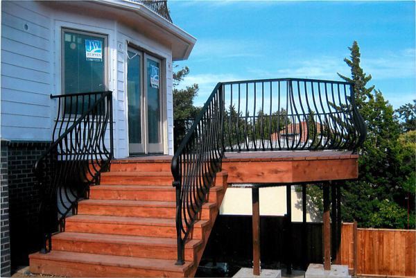Wrought Iron Pot Belly Railings San Jose