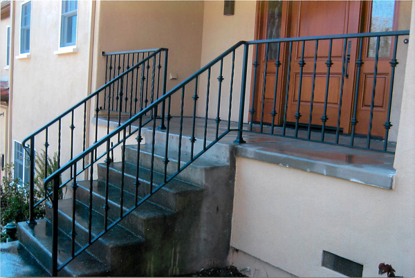 Simple Iron Stair Railings San Jose