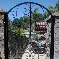 Wrought Iron Courtyard Gate San Jose
